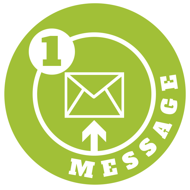 1 message logo