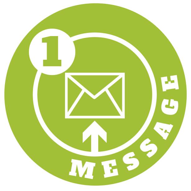 1 message logo